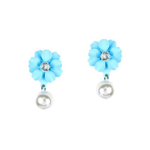 MIZORRI blue metal drop earring