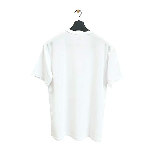 KIPA White Polyester Solid Round Neck T-Shirt