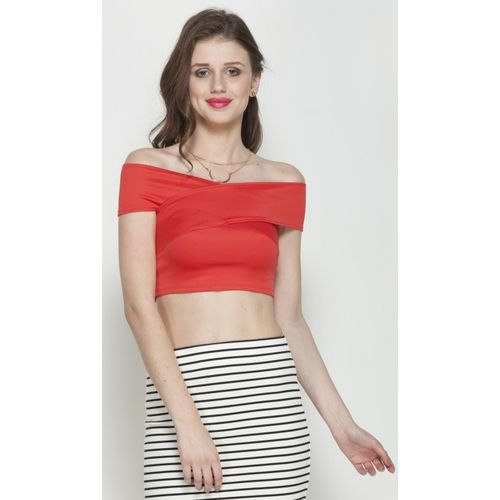 Veni Vidi Vici Party Sleeveless Solid Women Red Top