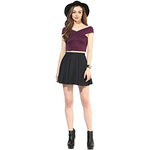 VeniVidiVici Women's Plain Slim Fit Shirt (VVV36708_Maroon_Small)