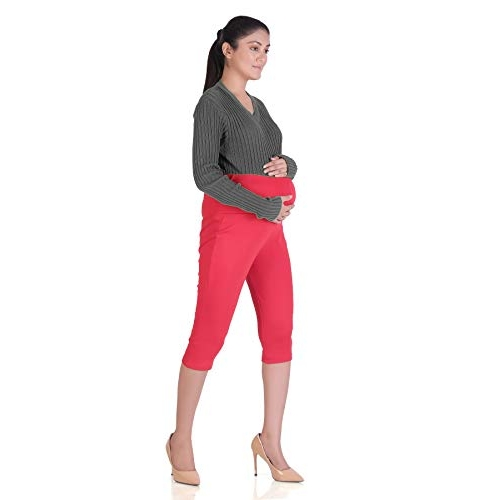 Hriday Fashion Women's 3/4 Maternity Organic Cotton  Lenggins for Pre & Post Pregnancy