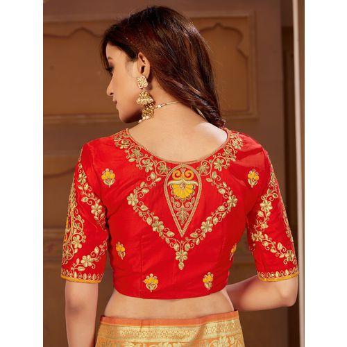 Manohari self design woven saree with blouse