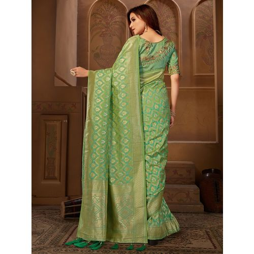 Manohari self design woven saree with blouse