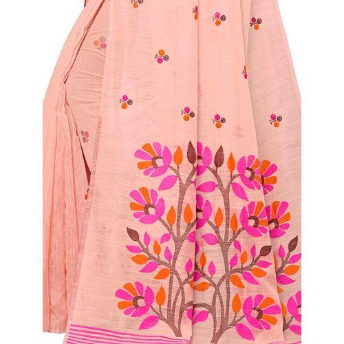 Aloki floral woven saree with blouse