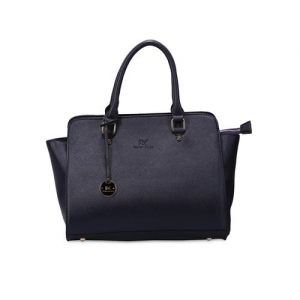 Diana Korr blue leatherette handbag
