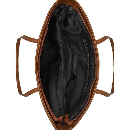 Toteteca black leatherette (pu) regular handbag