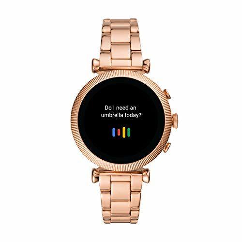 Fossil Women's Gen 4 Sloane HR Heart Rate Stainless Steel Touchscreen Women's Smartwatch, Color: Rose Gold (FTW6040)