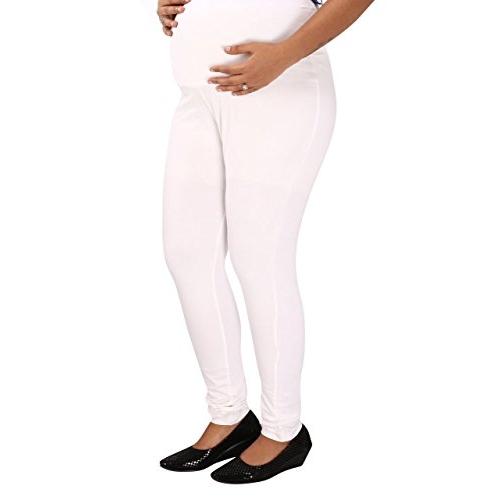 Mamma's Maternity White Lycra Maternity Legging