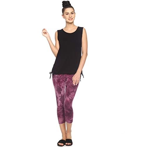 Purple Flaunt Burgandy Maternity Lengging