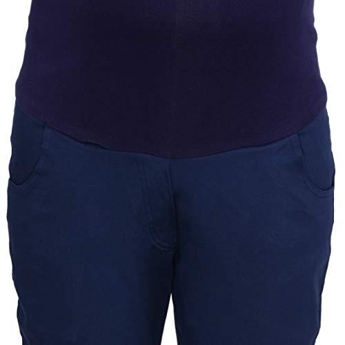 MomToBe Women's Blue Slim Fit  Maternity Trouser