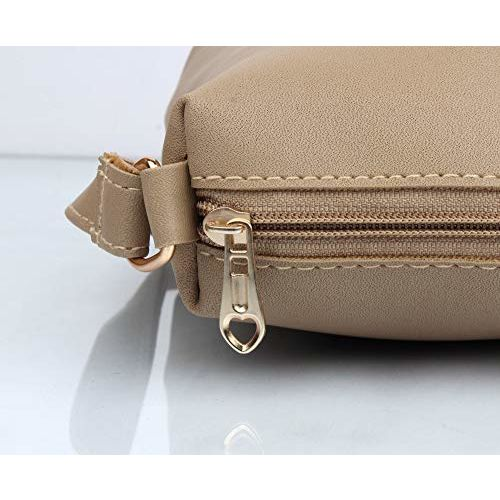 Mammon Women's Handbag With Sling Bag & Wristlet (Set of 3) (3LR-BIB-Cream_Cream)