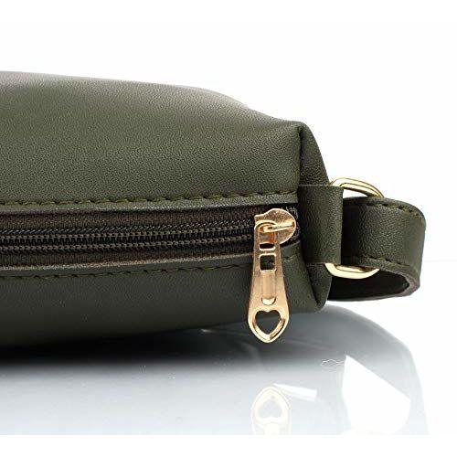 Mammon Women's Handbag (Set of 3) (3LR-BIB-Green_Green)