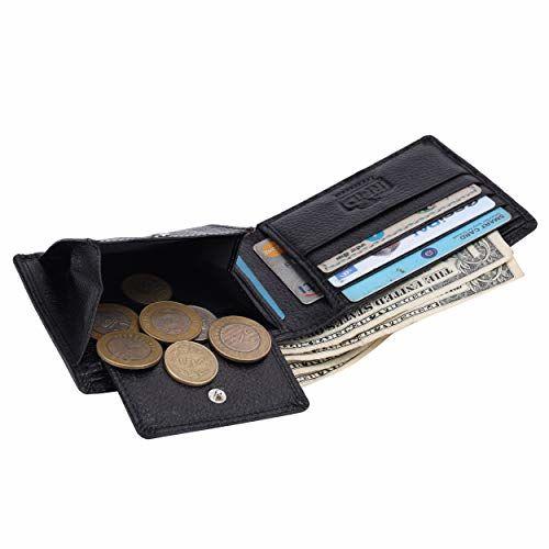 HAMMONDS FLYCATCHER Men's RFID Protected Premium Leather Wallet (Black)