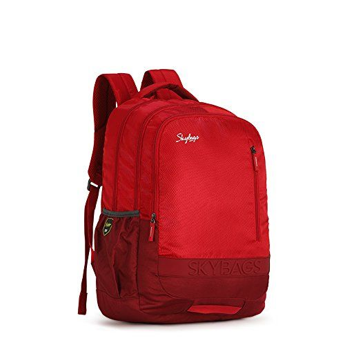 Skybags Bingo Extra 02 48 cms Red Casual Backpack (Bingo Extra 02)