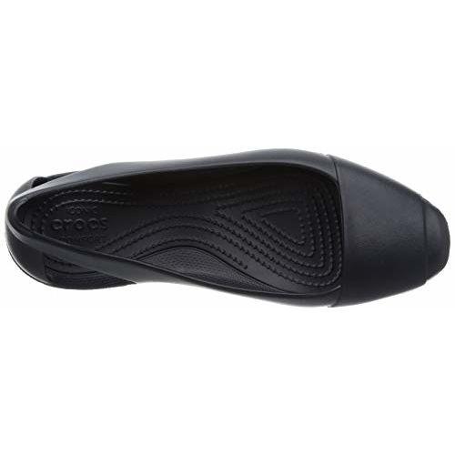 crocs Women's Black Ballet Flats-3 UK (W5) (202811-001)