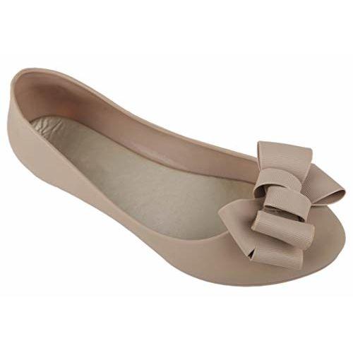 Irsoe Women's Cream Ballet Flat -3 UK