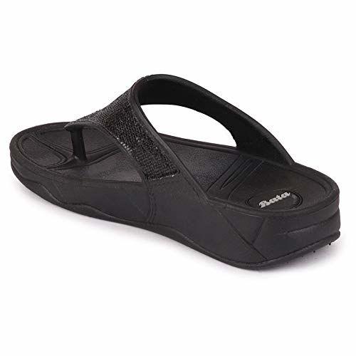 BATA Women's Black Slipper - 3 UK