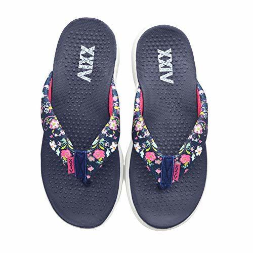 KazarMax Women's Navy Blue & Rani Pink Slipper - 3 UK