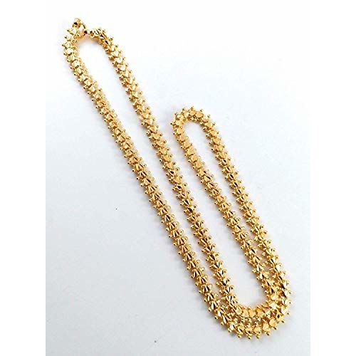 AFJ Gold 1 Gram Micro Gold Plated Traditional Designer Rope Thali Chain Women & Girls(24 Inch)