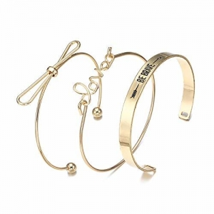 Jewels Galaxy Copper Charm Bracelet for Women (Golden) (CT-BNG-49011)