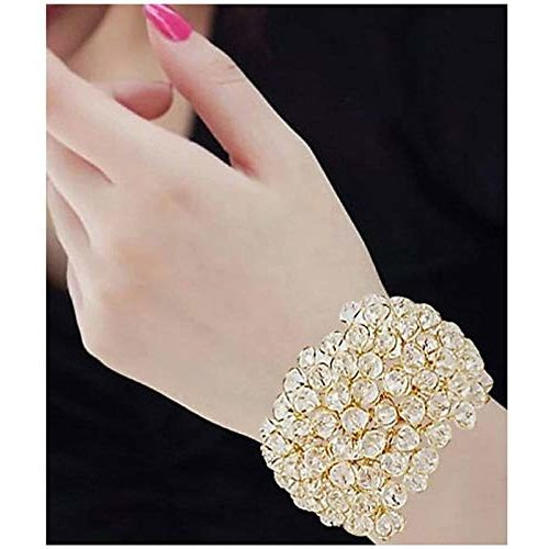 WUJO Crystal Charm Bracelet and Ring for Women