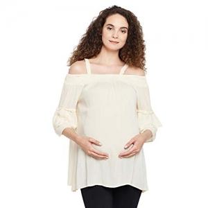 oxolloxo  Off Shoulder Beige Maternity Top
