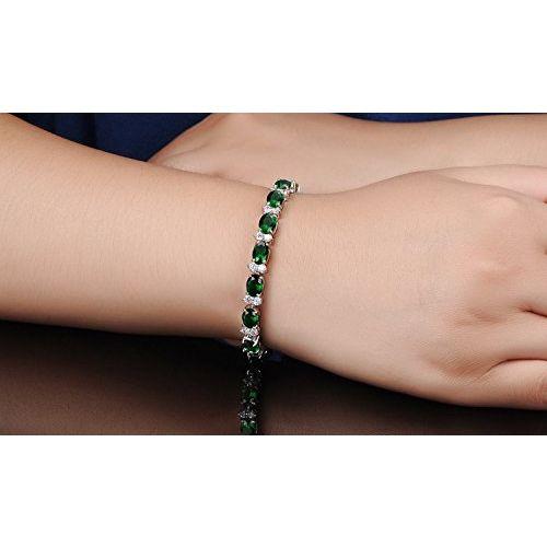 Yellow Chimes Royal Green Classic Look High Grade Cz Bracelet For Women