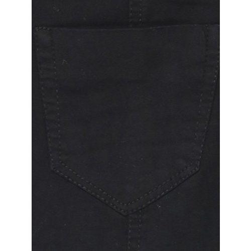 Sfine Black Denim Solid Casual Dungaree for Women