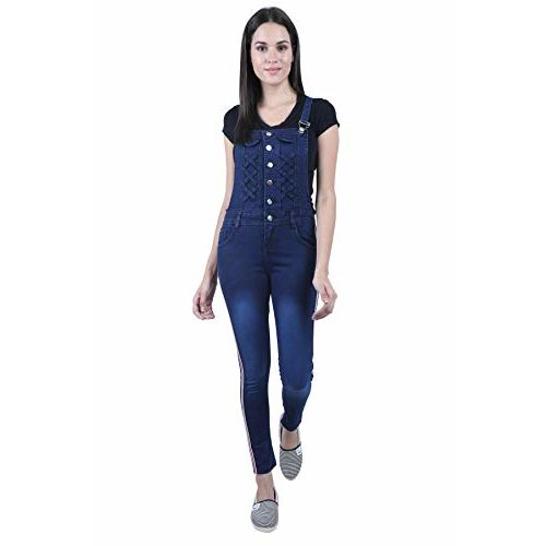 Broadstar Women Skinny Fit Denim Blue Dungaree