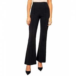 ADDYVERO Flared Ankle Length Women Trousers (Black, 28)