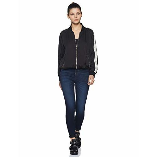 Amazon Brand - Symbol Women's Skinny Stretchable Jeans (SS19DNM002K_Dark Blue_26)