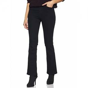 AKA CHIC Women's Boot Cut Jeans (AKCB 1430_Black_26)