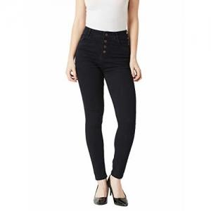 Miss Chase Women's Black High Rise Stretchable Denim Jeans(MCAW18DEN02-78-62-26, Black, 26)