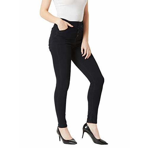 Miss Chase Women's Black High Rise Stretchable Denim Jeans(MCAW18DEN02-78-62-26, Black, 26)