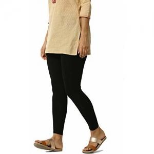 ERAZOR Women's Cotton Ankle Length Bio-Wash Legging (Black; Free Size) (Black)