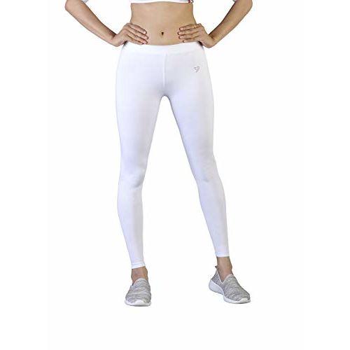 TWIN BIRDS Twinbirds Pearl White Women Full Length Legging_Small