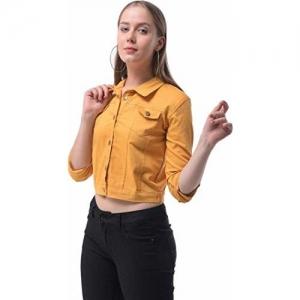 KING-DENIM Women Jackets Mustard S