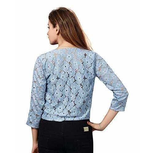Bfly Women's Net Short Shrug (Blue & Blue, Small)