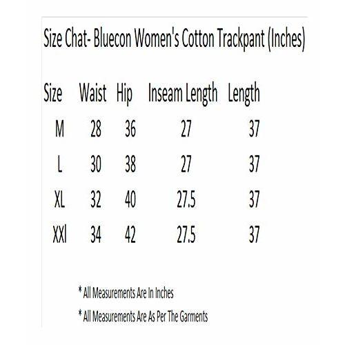Bluecon Women's Yoga Pants/Cotton Gym Wear Track Pants for Women- Pack of 2- (Dark Grey, Black)