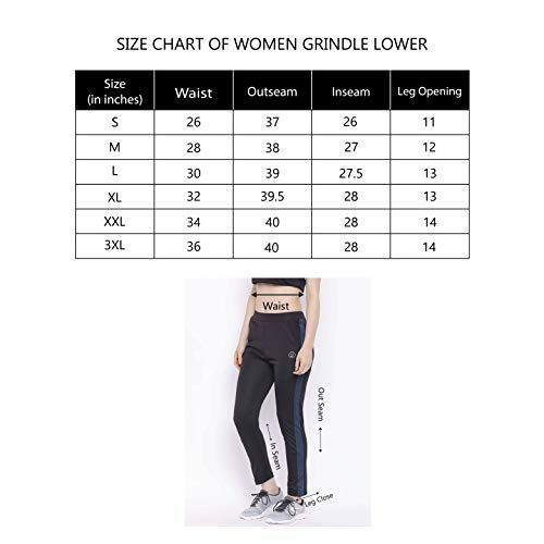 CHKOKKO Women's Polyester Yoga Gym Workout Active Wear Sports Fitness Regular Fit Track Pant (Black and Blue, Small)