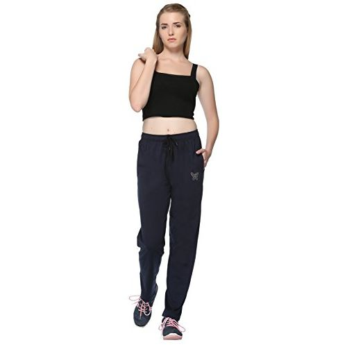 CUPID Regular Fit Cotton Night Track Pant, Sports Lower, Joggers for Lounge Wear and Daily Use Gym Wear for Girls - Dark Blue, 3XL