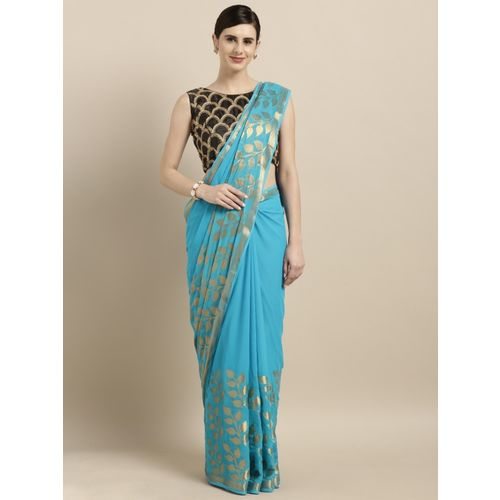 Pavechas Woven Bollywood Georgette Saree(Blue)