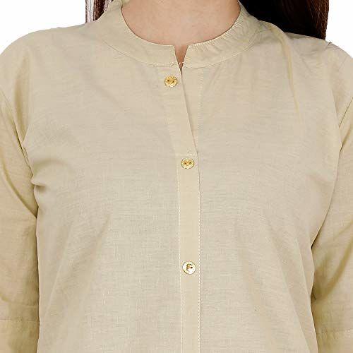 Style Hive Women's Cotton Regular Kurta (Lavangi-Georgette-Kurti-2_Beige_Medium)