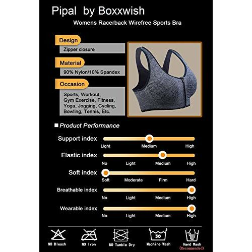 Pipal Women's Cotton & Nylon Lightly Padded, With Removable Pads Non-Wired Sports Bra (New-703_Blue_Free Size)