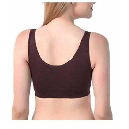 Dilency Sales (AIR Bra Combo Stretchable Thick Belt Non-Padded Seamless for Women and Girls, Free-Size (Size 28 to 34) (B, Black-Brown-Red)