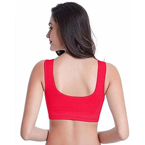 Mysha Womens & Girls Cotton Non-Wired, Non Padded Sports Bra (Combo of 6) (Size- 30B)