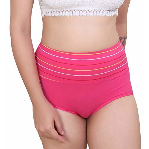 GLAMORAS Women's Cotton Panties (Pack of 3) (GL-HWPANTY-2076-COMBO14_Derk Pink Red_Free Size)