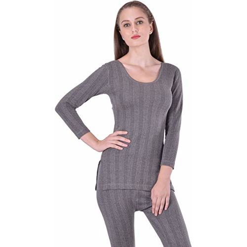 Lux Inferno Ladies 3/4 Thermal Top and Lower Set_Set_80_Grey
