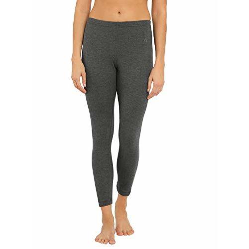 Jockey Women's Cotton Thermal Leggings (2520-0105-CHAML_Charcoal Melange_X-Large)