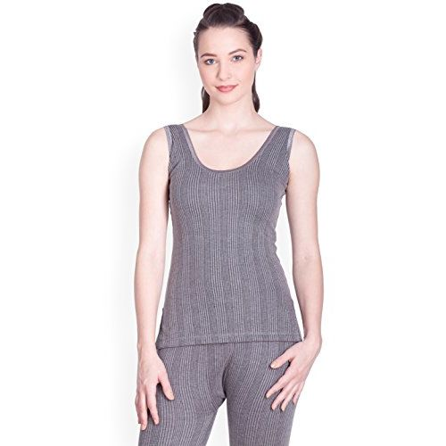 Lux Inferno Women's Cotton Thermal Top (INF_LAD_CH_Slips_RN_75_Charcoal Melange)
